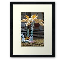 Funky Tropical Abstract Art  Framed Print