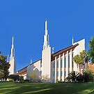 Las Vegas Nevada Temple - Between the Trees 24x20 by Ken Fortie