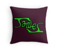 """James"" Ambigram (reversible image) Throw Pillow"