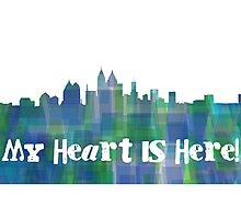 My heart is here. Photographic Print