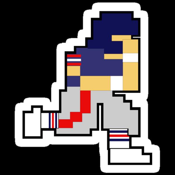 Nintendo Tecmo Bowl New York Giants Mark Bavarro by jackandcharlie