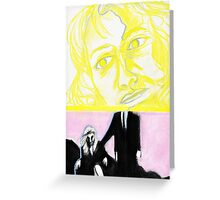 Laura Palmer feat. Dale Cooper in pastel- Twin Peaks Greeting Card