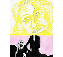 Laura Palmer feat. Dale Cooper in pastel- Twin Peaks Photographic Print