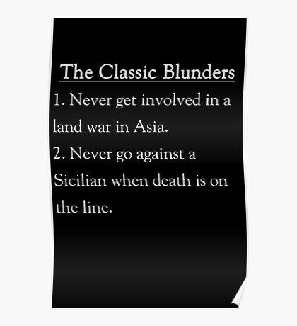 The Classic Blunders Poster