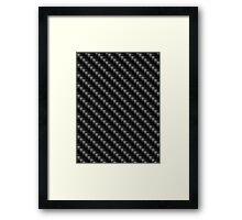 Carbon Fibre Pattern Framed Print