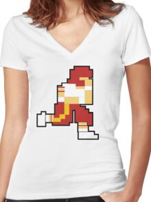 Nintendo Tecmo Bowl Washington Redskins Women's Fitted V-Neck T-Shirt