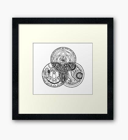 Superwholock Venn Diagram (Transparent) Framed Print