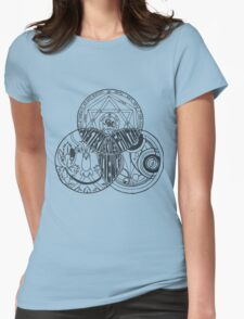Superwholock Venn Diagram (Transparent) Womens Fitted T-Shirt