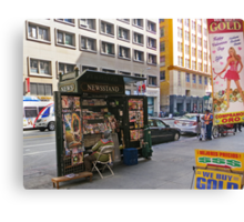 Magazine Stand Downtown LA Canvas Print
