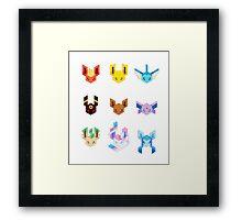 Trixel Eveelutions Framed Print