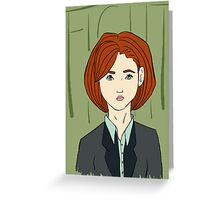 Fight - Scully Greeting Card