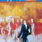 Random encounters in the square. by Alessandro Andreuccetti