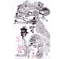 Wendoodle, mask face Photographic Print