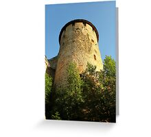 Tower Ivangorod fortress Greeting Card