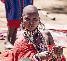 Masai woman adorned with jewellery by urbankarma