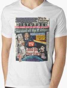 Portrait of an American Collage Mens V-Neck T-Shirt