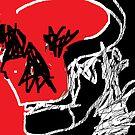 Human Skull (imaginary)/II -(220214)- Digital artwork/MS Paint by paulramnora