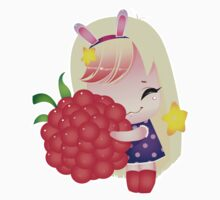 Cute little girl with a raspberry  Kids Clothes