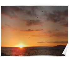 Diamond Head Sunset Poster