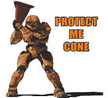 Red vs Blue - Protect Me Cone Photographic Print