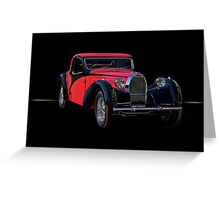1937 Bugatti Type 57 Atalante Coupe II Greeting Card