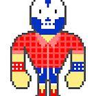 Pixel Luchador - Lumberjack by Oleg Milshtein