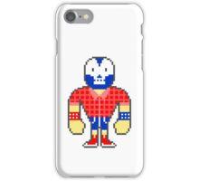 Pixel Luchador - Lumberjack iPhone Case/Skin