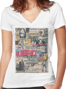 Teenage Riot Women's Fitted V-Neck T-Shirt