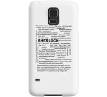 Sherlock Season 3 Quotes Samsung Galaxy Case/Skin
