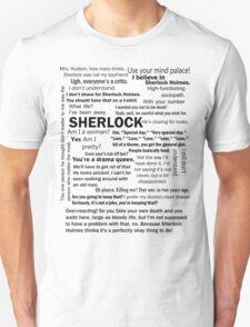 Sherlock Season 3 Quotes Unisex T-Shirt