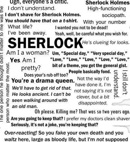 Sherlock Season 3 Quotes Sticker