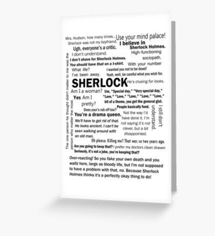 Sherlock Season 3 Quotes Greeting Card