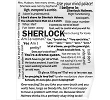 Sherlock Season 3 Quotes Poster