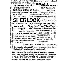 Sherlock Season 3 Quotes Photographic Print
