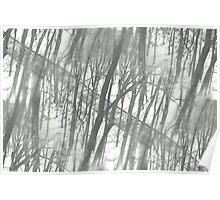 Winter Urban Wood Poster