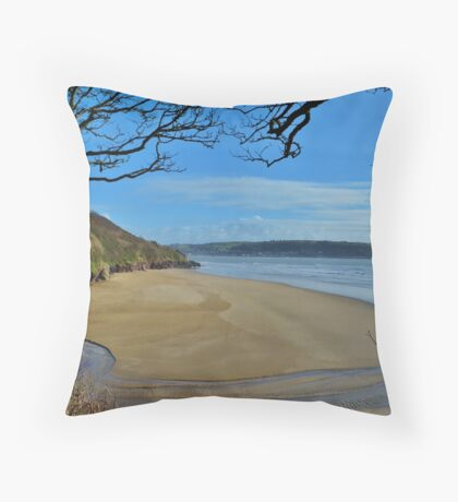 Scott's Bay, Llansteffan Throw Pillow
