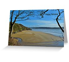 Scott's Bay, Llansteffan - Birthday Card Greeting Card