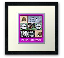 poop compass Framed Print