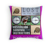 poop compass Throw Pillow