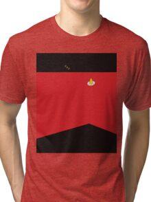 Sci-fi Xmas Shirt (Red) Tri-blend T-Shirt