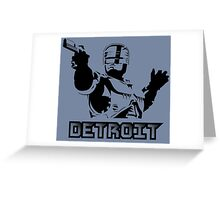Robocop - Detroit Greeting Card