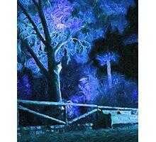 Night, impressionism. Photographic Print