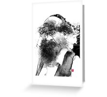 The man with a beard Greeting Card