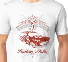 Smoke and Flames Kustom Auto Unisex T-Shirt