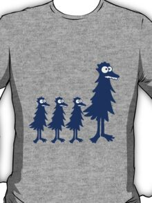 Funny little funny bird family children Mama Papa T-Shirt