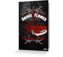 Smoke and Flames Kustom Auto Greeting Card