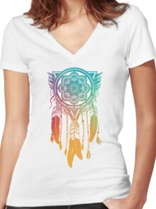 Dreamcatcher Protection Women's Fitted V-Neck T-Shirt