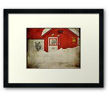 Wolf Barn Framed Print
