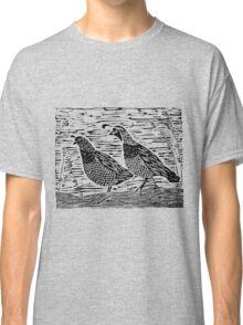 Pair of Quail Blockprint Classic T-Shirt