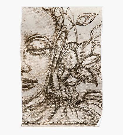 Lotus Sutra Sketch Detail Poster